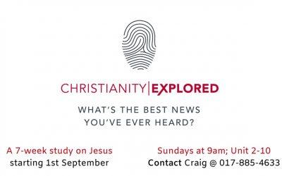 Christianity Explored – Starting 1 September