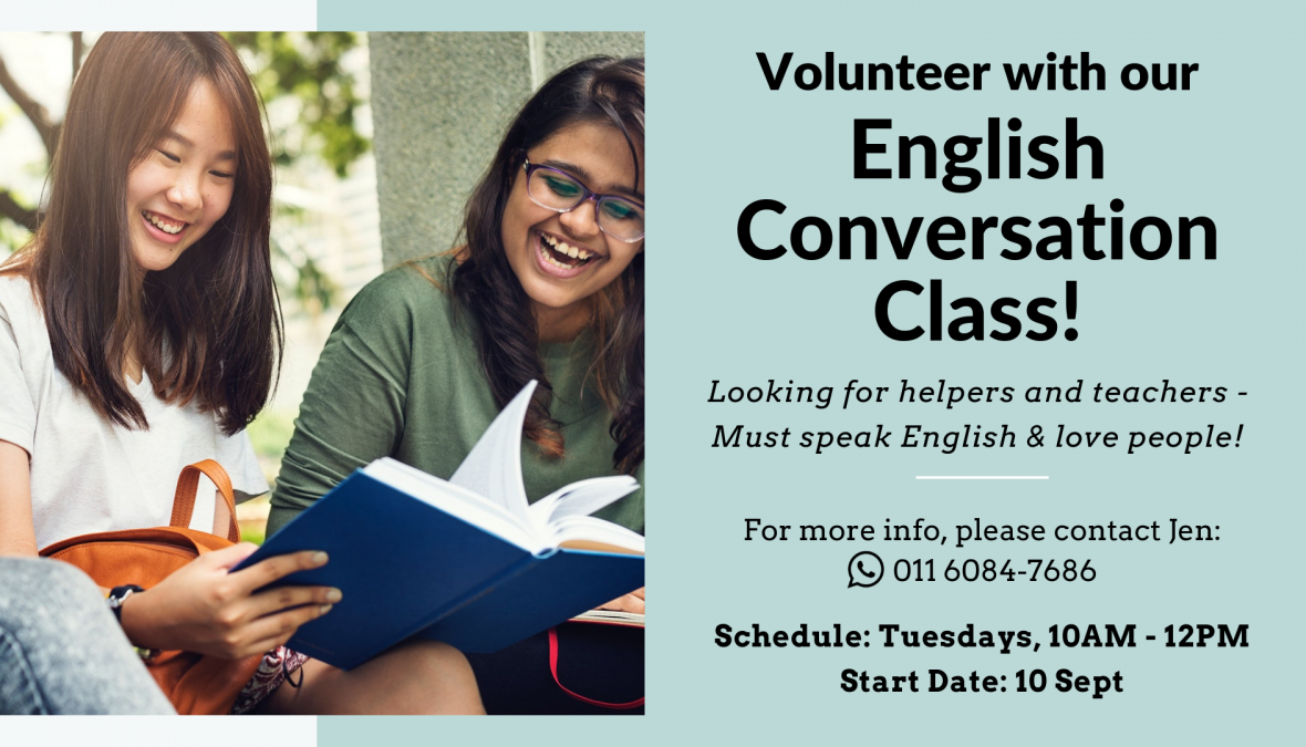 Looking for English Conversation Class Volunteers!