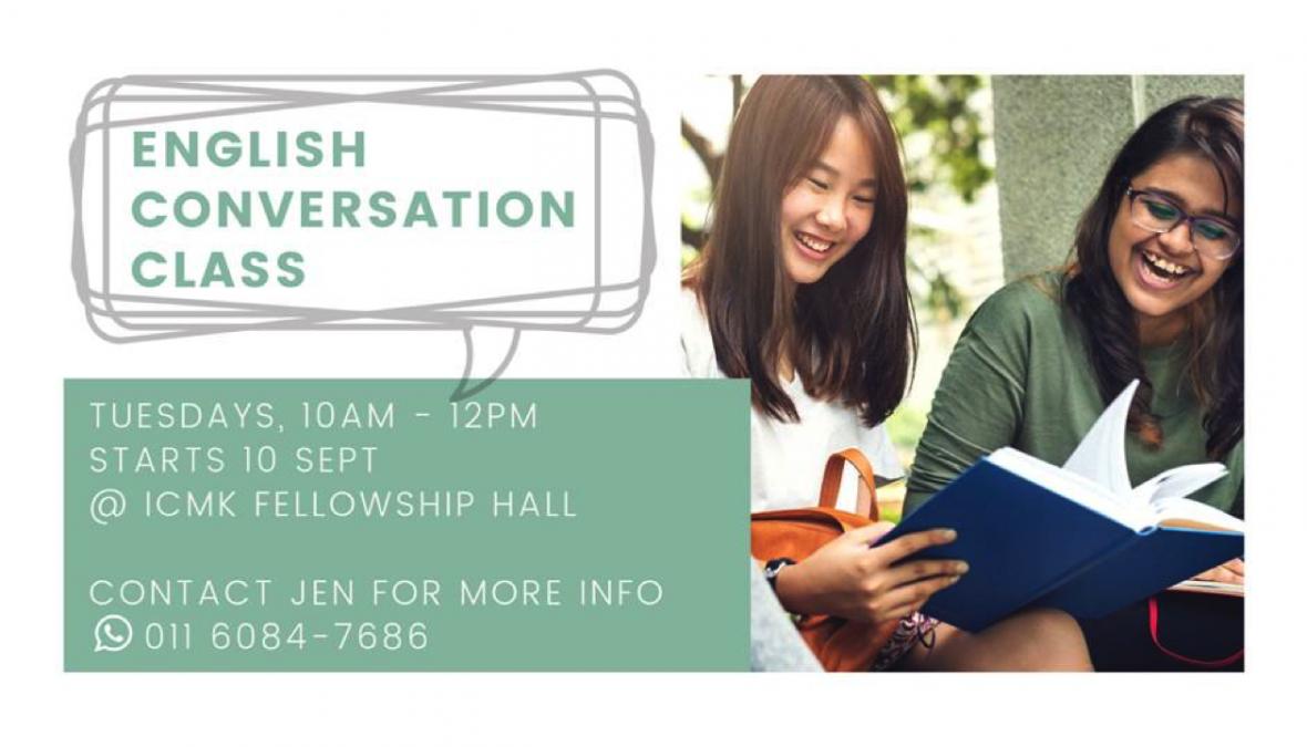 English Conversation Class – Tuesdays Starting 10 September