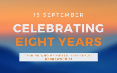 Celebrating Eight Years – September 15