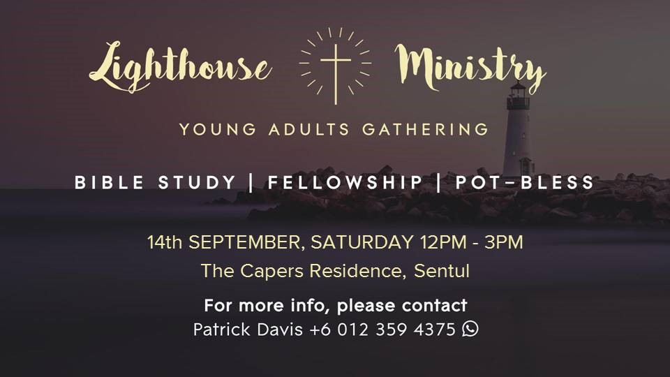 Lighthouse/Young Adult Gathering – Sept 14