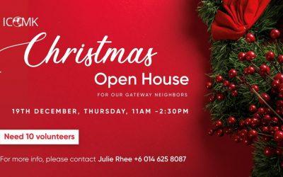 Christmas Open House – Volunteers Needed
