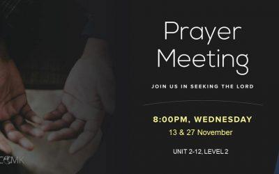 November Prayer Meetings – 13 & 27 November