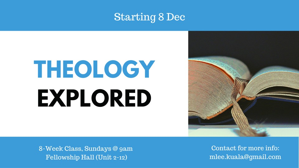 Theology Explored – starting 8 December at 9am