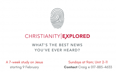 Christianity Explored – starting 9 Feb