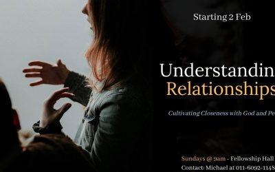 Understanding Relationships – starting 2 Feb
