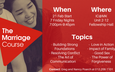 Marriage Course – starting 21 Feb
