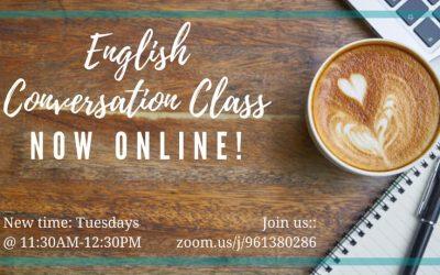 English Conversation Class online – Tuesdays at 11:30