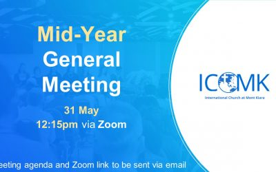 Mid-Year General Meeting – Sunday 31 May at 12:15 on Zoom