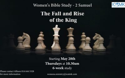 Women's Bible Study – starting 28 May at 10:30am on Zoom