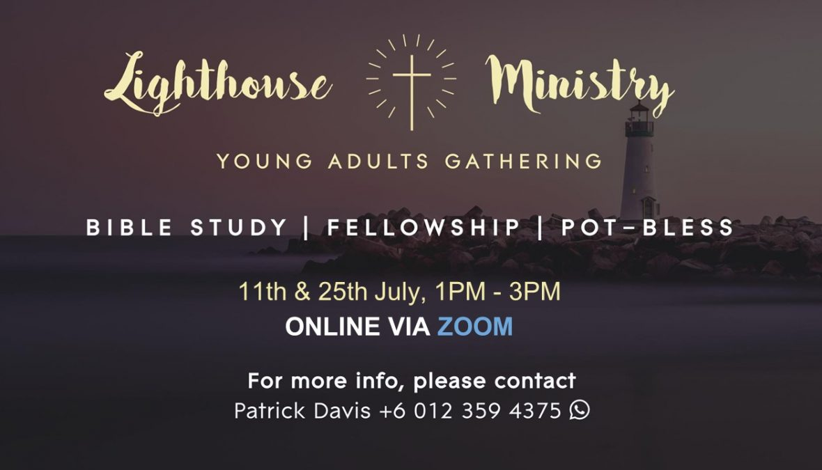 July Lighthouse Gatherings – 11th & 25th July at 1pm via Zoom