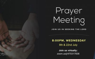 July Prayer Meetings – 8th & 22nd July at 8pm via Zoom
