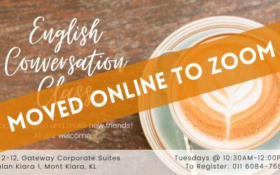 English Conversation Class – Tuesdays at 10:30am