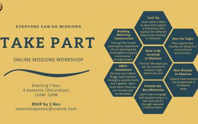 Online Missions Workshop – Saturdays at 11am, starting 7 Nov