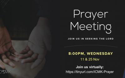 November Prayer Meeting – 25th Nov at 8pm, via Zoom