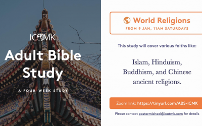 Adult Bible Study – starting 9 Jan, via Zoom