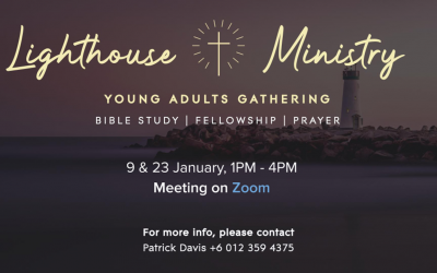 Young Adult Gatherings – 9 and 23 Jan, via Zoom