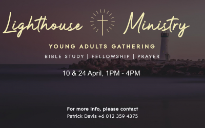 Young Adult Gathering – 10 & 24 April, 1pm-4pm