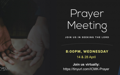 April Prayer Meetings – 14 & 28 April at 8pm, via Zoom