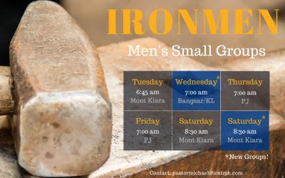 Ironmen – new men's groups starting 1st May
