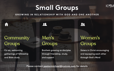 Small Groups – co-ed, men's, and women's groups available