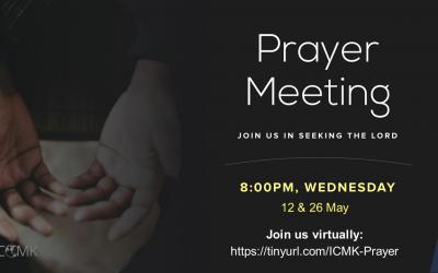 May Prayer Meetings – 12 & 26 May at 8pm, via Zoom