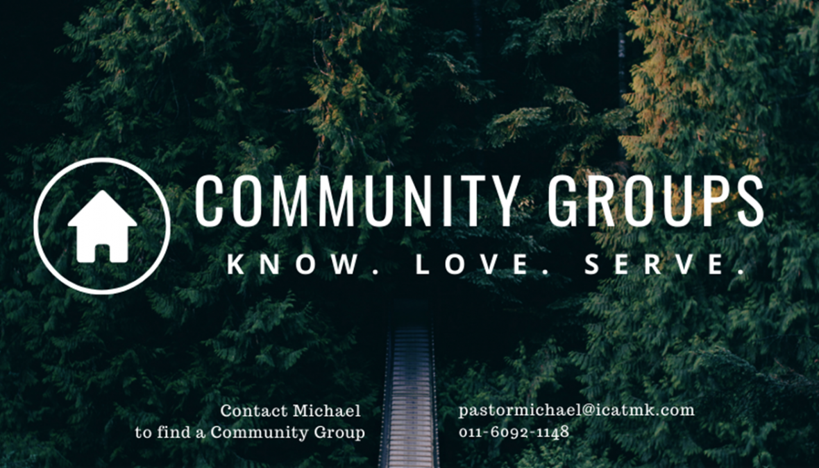 Community Groups – contact Michael for more info