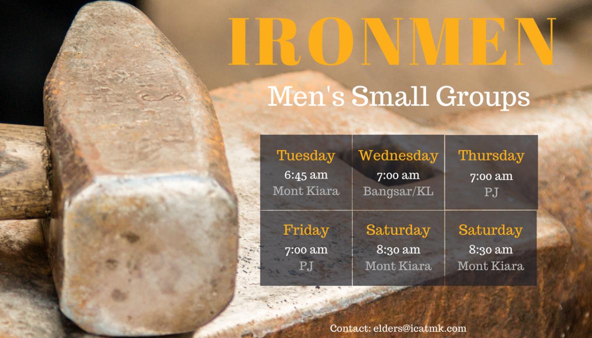 Ironmen Groups – men's bible study