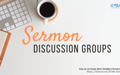 Sermon Discussion Groups – after live stream, via Zoom
