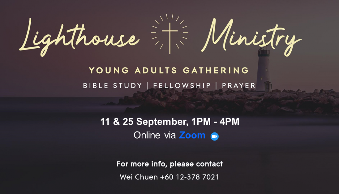 Young Adult Gatherings – 11 & 25 Sept at 1pm, via Zoom