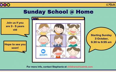 Children's Sunday School – ages 3-5 on Zoom