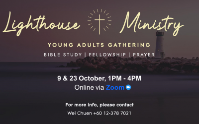 Young Adult Gatherings – 9 & 23 Oct, via Zoom